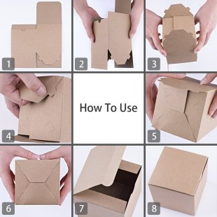 Gift boxes fold flat and take up little space in luggage.